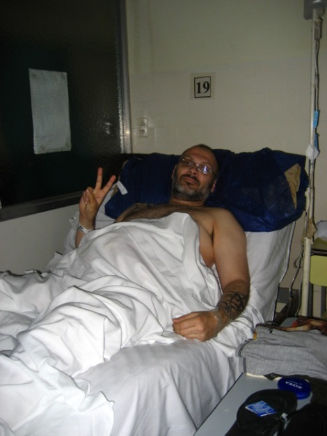 Rick Powell in Hospital Rivadavia, December 2010.